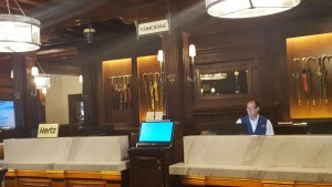 Hotel Del Concierge Desk and Hertz desk in lobby